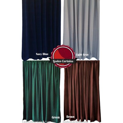 9 Ft High Flocked Velvet Curtains W Rod Pocket Top In 2020 With