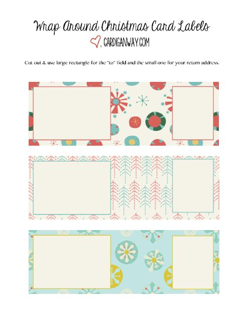 wrap around label picture christmas printables pinterest free printable christmas cards. Black Bedroom Furniture Sets. Home Design Ideas