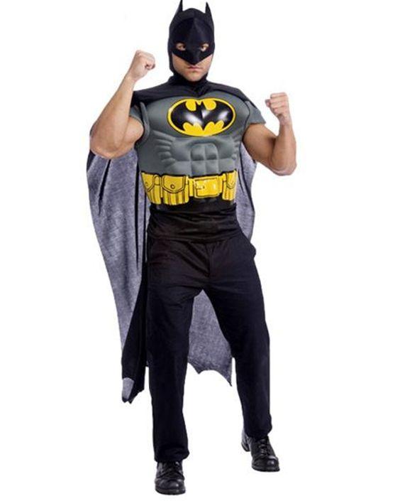 Batman Muscle Shirt Cape Adult Men Costume Price: $29.99