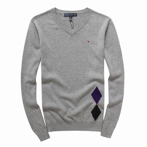 Tommy Hilfiger Sweater Sale V-neck In Grey UK