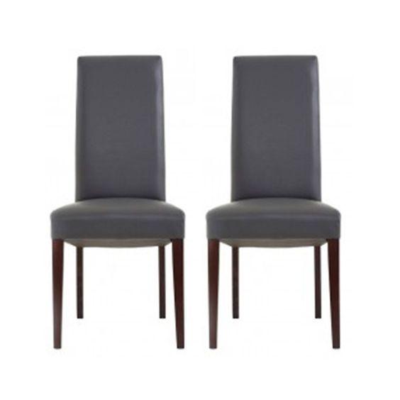 TIMMY chairs by depot Kunstleder grau ca L:47 x T:56 x H:102 cm