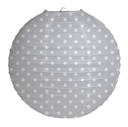 Darling polka dot paper lantern