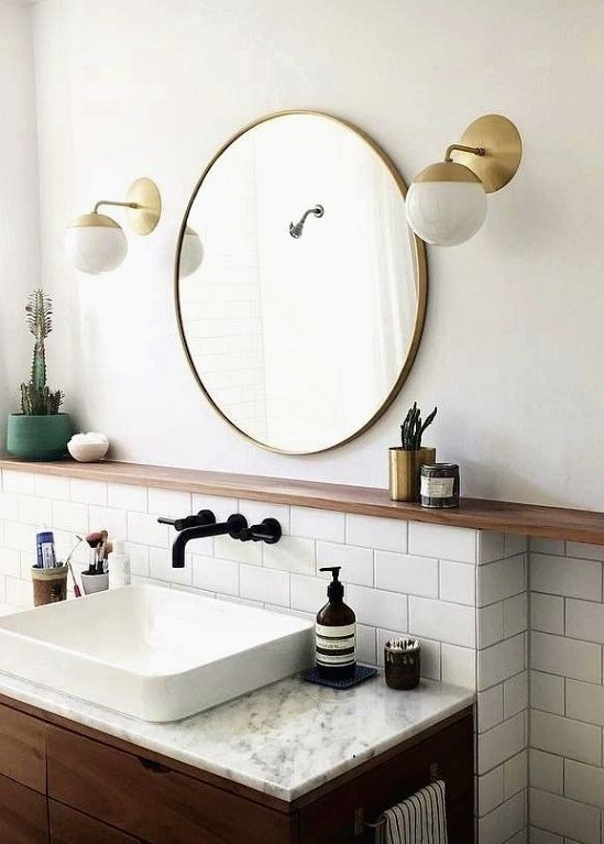 Bathroom Design Decor 7 Great Ideas For Your Bathroom Remodel Modern Bathroom Decor Tile Backsplash Bathroom Round Mirror Bathroom