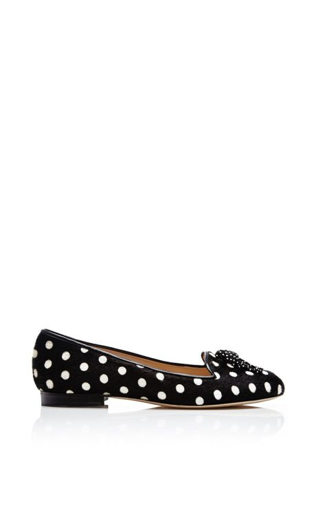Shop Ciciclo Printed Pony Hair Loafers by Oscar de la Renta Now Available on Moda Operandi