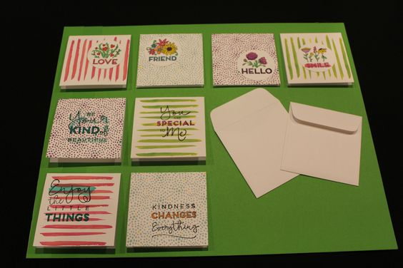 Your Create Kindness Card Kit can make 24 of these cards. All I added was a Shimmer Brush, a waterbrush and watercolor! If you add white cardstock to the kit, you can cut the back off the card (which looks the same as the front of the card) and get twice as many cards! #createkindness