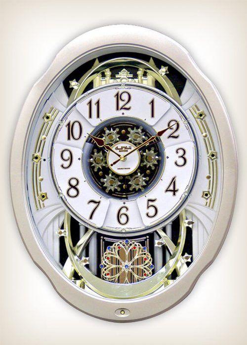 Marvelous Magic Rhythm Clock 4mh842wd18 Wall Of Clocks Rhythm Clocks Clock Wall Clock