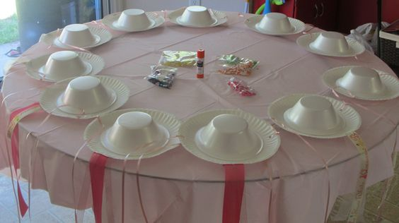 tea party hats the girls made:
