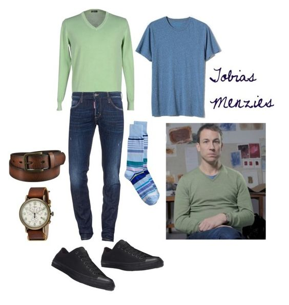 """Tobias Menzies"" by classic-erynn on Polyvore featuring Rossopuro, Banana Republic, Converse, Dsquared2, Uniqlo, Timex, men's fashion, menswear, GameOfThrones and Actor"