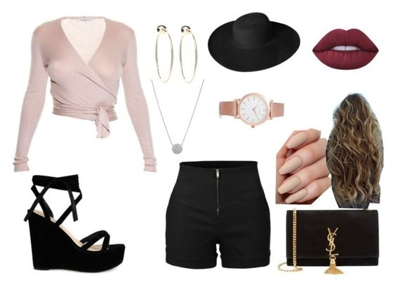 """""""indie outfit #5"""" by klarkeyk on Polyvore featuring Etro, LE3NO, Yves Saint Laurent, Larsson & Jennings, Bebe, Lime Crime and Dorfman Pacific"""