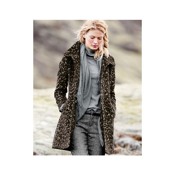 Via Spiga Leopard-Print Coat ❤ liked on Polyvore featuring ...