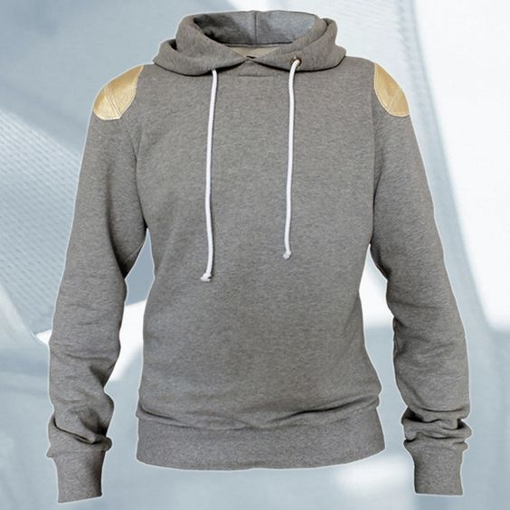 Mens Hoodies – Hoodie & leather & gold & gray NeueGeneration – a unique product by STARBEIT on DaWanda