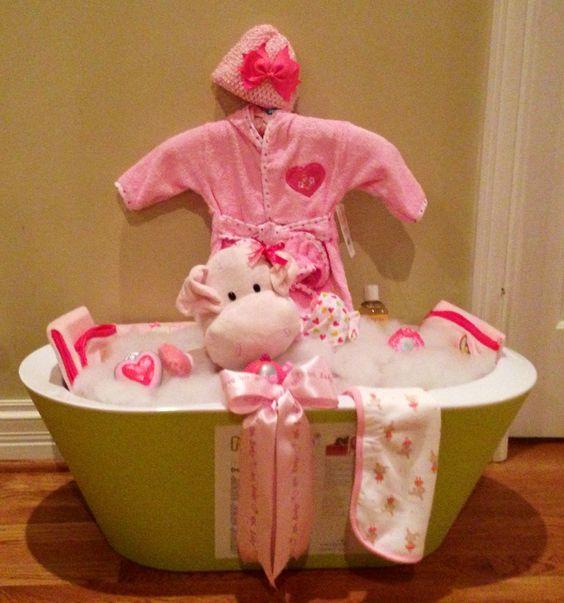 baby shower bath tub basket my creations pinterest bath tubs babies and baskets. Black Bedroom Furniture Sets. Home Design Ideas