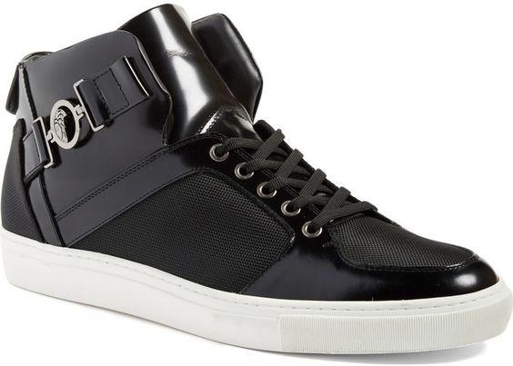 Versace Collection Buckle High Top Sneaker