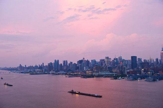 sunset NYC july 4 2012