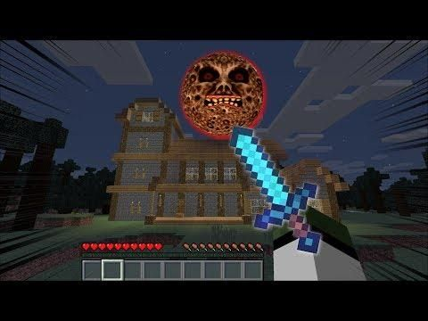 Lunar Moon Attacks Mark Our Friendly Zombie House Minecraft Lunar Moon Minecraft Minecraft Houses