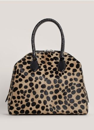 Azzedine Alaïa - Leopard-print top-handle bag | Animal Print Day Top Handles | Womenswear | Lane Crawford - Shop Designer Brands Online
