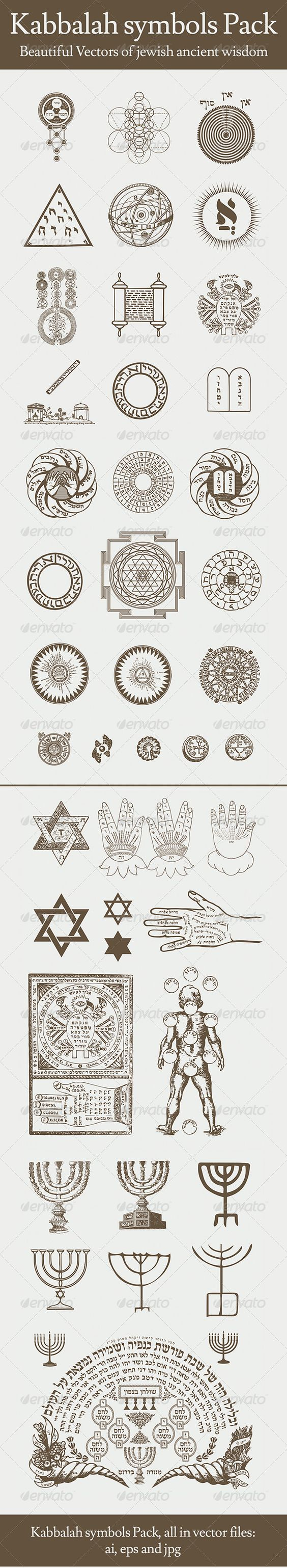 Kabbalah Symbols Pack Egypt Pictures And Occult Symbols