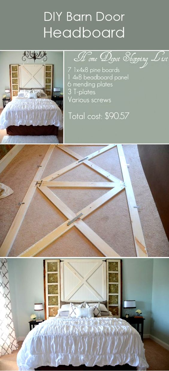 Barn door headboards door headboards and barn doors on How to make your own headboard