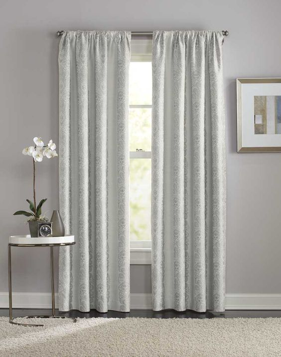 Curtains Ideas cheap 108 curtains : Manchester Damask Pole Top Curtain Panel / Curtainworks.com 39.99 ...