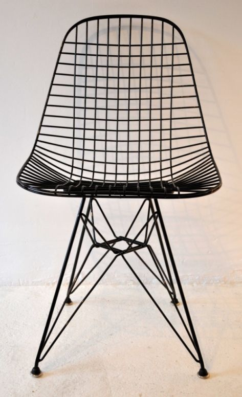 wire chair eames and wire on pinterest. Black Bedroom Furniture Sets. Home Design Ideas