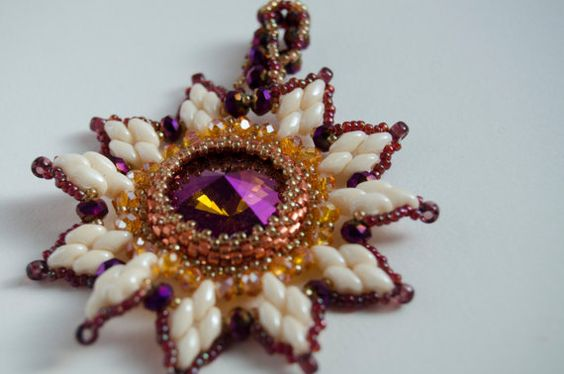 Sunny White and Purple Pendant