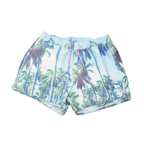 Benson Slim Swim Men's Trunks - Palm