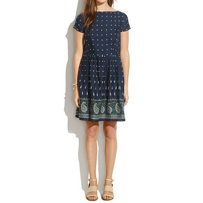 Summer commuting dress: Summer Dress, Dress Waist, Paisley Dress, Woman Dresses, Dresses Skirts, Defined Dresses, Dresses Madewell