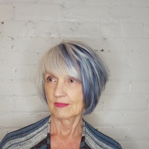 33 Best Hair Color Ideas For Women Over 50 For 2019 Be Trendsetter Blue Hair Grey Hair Color Cool Hair Color