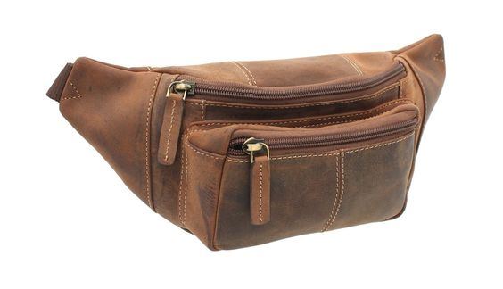 Visconti Leather Bumbag Style 720 Oil Tan: Amazon.co.uk: Luggage