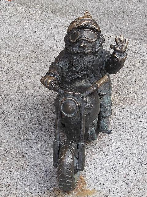 Wroclaw, Biker gnome by termitesauce, via Flickr