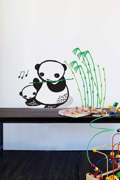 Hells yes. Every child must have a panda or two in their room. If they are playing a bamboo flute, even better.