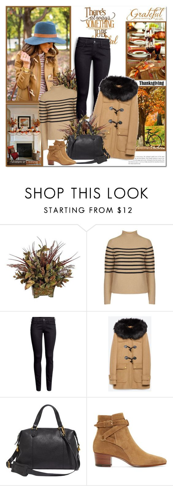 """Home for Thanksgiving"" by lilly-2711 ❤ liked on Polyvore featuring Unique, H&M, Zara, Madewell and Yves Saint Laurent"