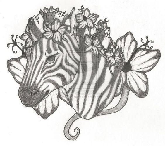 zebra tattoo vorlagen