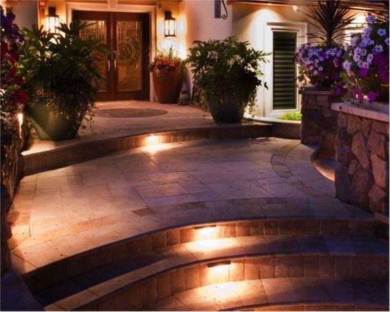 ideen treppenbeleuchtung außen eingang fliesen Garden item - ideen treppenbeleuchtung aussen