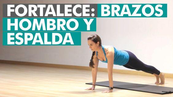 Rutina completa para la cintura escapular: hombros, brazos y espalda superior.  Estos ejercicios permiten fortalecer toda la parte superior, de cintura para arriba, de brazos, hombros y espalda.