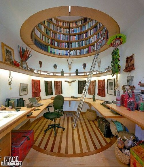 Library-Office! Love it!