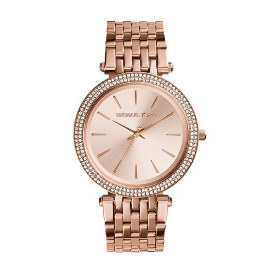 Amazon.com: Michael Kors Women's Darci Rose Gold-Tone Watch MK3192: Michael Kors: Clothing