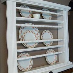 crib turned plate rack