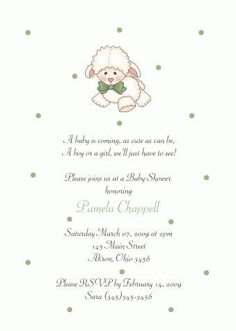 little lamb baby shower invitation | lamb shower | pinterest, Baby shower invitations