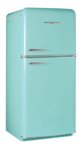 Retro teal fridge for room over garage teal aqua - Teal kitchen appliances ...