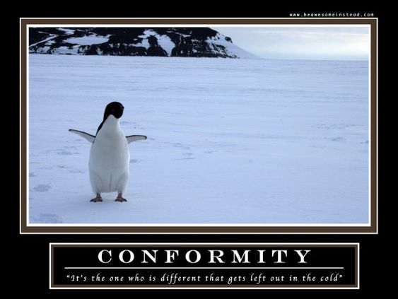 Conformity- The Demotivational poster from How I Met Your Mother - barney stinson video resume