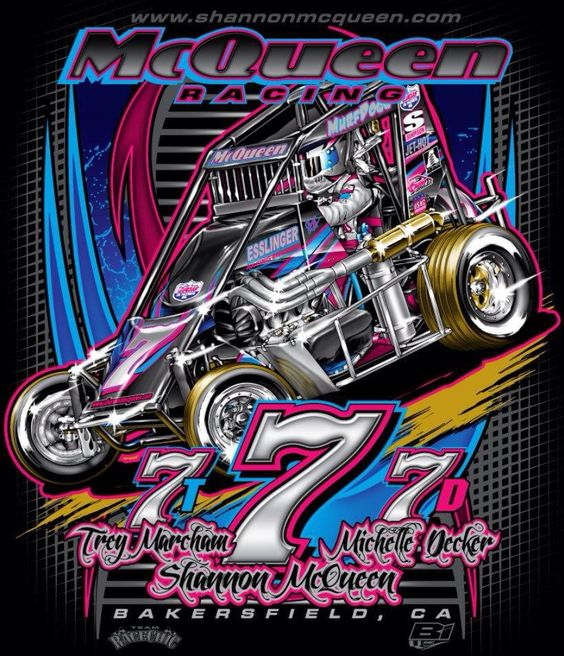 McQueen Racing Chili Bowl T-Shirts