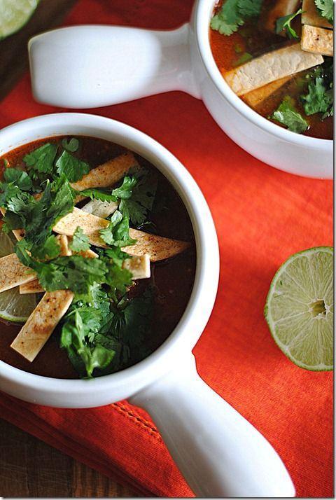 Chipotle Chicken Tortilla Soup #recipe - 228 calories per serving
