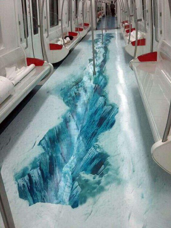 Fait pas bon prendre le métro en hiver !