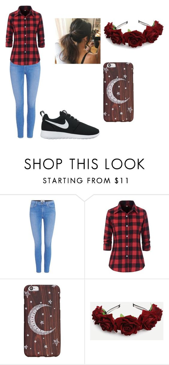 """Untitled #13"" by athena-snuffles on Polyvore featuring Paige Denim and NIKE"