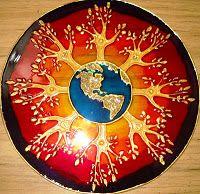 Mandalas en vidrio - Geometrias del Alma Abrazo a Gaia