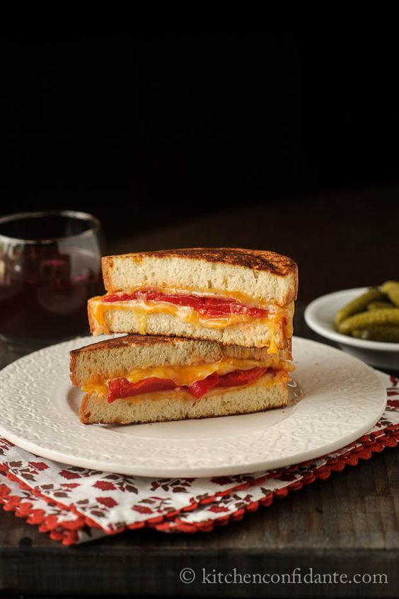 Grilled Cheese Sandwich with Roasted Red Peppers & Ibérico Ham: Grilled Cheese Recipes, Food Recipes, Grilled Cheese Sandwiches, Recipes Sandwiches, Peppers Iberico, Peppers Ibérico, Sandwiches Grilled, Favorite Recipes, Roasted Red Peppers
