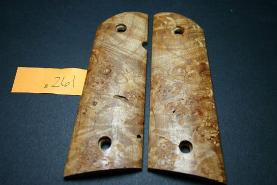 DIY Unfinished 1911 Grips Birdseye BURL MAPLE Worm by 206grips