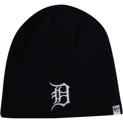 '47 Brand Detroit Tigers Cuffless Knit Hat - Navy Blue