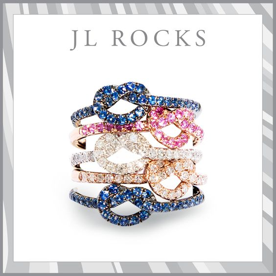 Love Knots ~ Pick a color. 203-454-4541 #loveknotrings